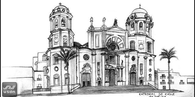 Dibujando en Cádiz. La Catedral.