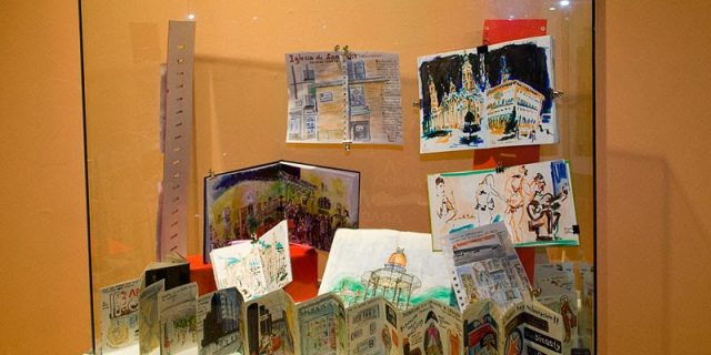 Exposición cuaderno de dibujos en Aragonia