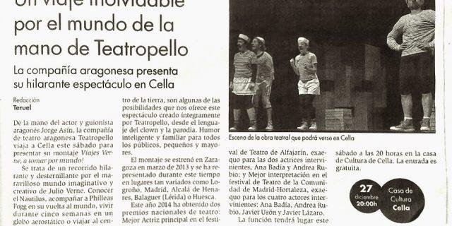 Teatropello en el Diario de Teruel