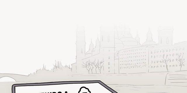 Bienvenidos a Zaragoza. Niebla para todos.